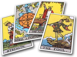 Tarot kaarten worden gelegd door vele mediums op Consulentenonline.